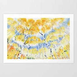 Under the Birch Forest Art Print