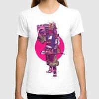 hip hop T-shirts featuring Hip-Hop Samurai by Mike Wrobel