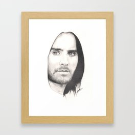 jared leto... Framed Art Print