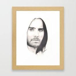 jared leto... Framed Art Print