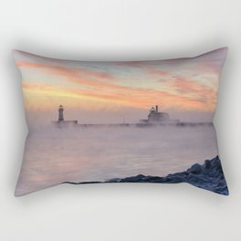 Sea Smoke Sunrise Rectangular Pillow