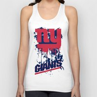 giants Tank Tops featuring ny giants design 2 by Dan Solo Galleries
