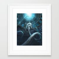 underwater Framed Art Prints featuring Underwater by Julie Dillon