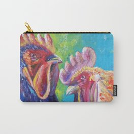 Colorful Roosters Carry-All Pouch
