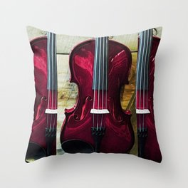 The Red Violin, A Portrait by Jeanpaul Ferro Throw Pillow