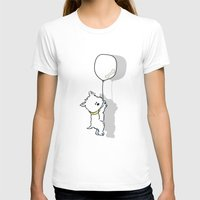 westie T-shirts featuring Hungry Westie Puppy by Lucy Cooper
