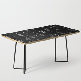 Black wildflowers Coffee Table