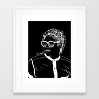 niall Framed Art Prints featuring Niall by andjustlove