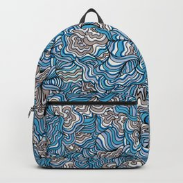 Gray Day with Blue Feelings Backpack