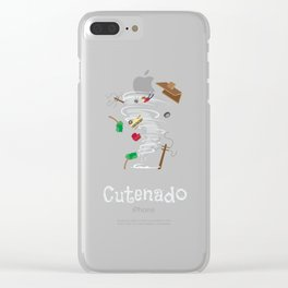 Funny Cutenado Cute Tornado Clear iPhone Case