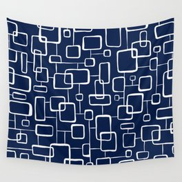 On The Quad - Navy Blue Wall Tapestry