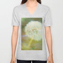 Dandelion Wishes Yellow Unisex V-Neck