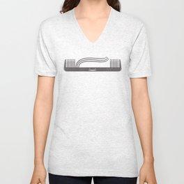 Comb Over Unisex V-Neck