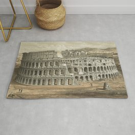 Vintage Illustration of The Roman Colosseum (1872) Rug