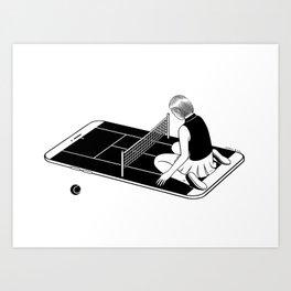 Love is a losing game Art Print