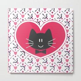 He is...meow love Metal Print
