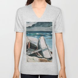 Winslow Homer1 - After The Hurricane, Bahamas - Digital Remastered Edition Unisex V-Neck