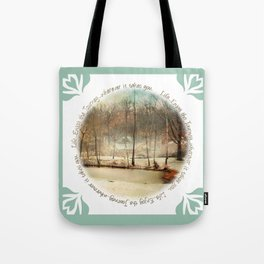 Winter Morning Pond Journey Tote Bag