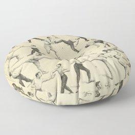 Antique Boxing Floor Pillow