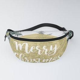 Merry Christmas Forest Fanny Pack