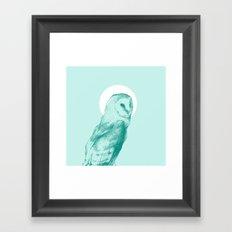Wise Blue Owl Framed Art Print