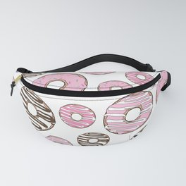 Pattern Of Donuts, Pink Donuts, White Donuts Fanny Pack