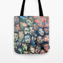 face, face, face Tote Bag