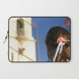Girl Feather Headdress Laptop Sleeve