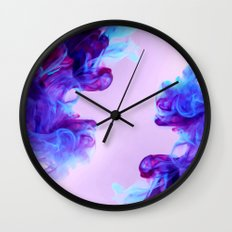 Ink Drops Wall Clock