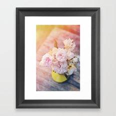 The Last Days of Spring - Old Roses II Framed Art Print
