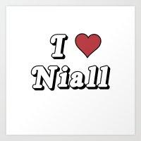 I love Niall Art Print