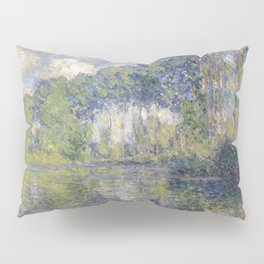 1891-Claude Monet-Poplars on the Epte-81 x 81 Pillow Sham