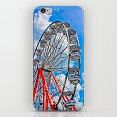 Red, White & Blue Ferris Wheel at the Fair iPhone & iPod Skin