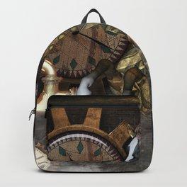 Steampunk, beautiful steampunk horse Backpack