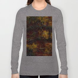 1920-Claude Monet-The Japanese Footbridge, Giverny-89 x 94 Long Sleeve T-shirt