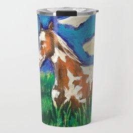 Painted fields Travel Mug