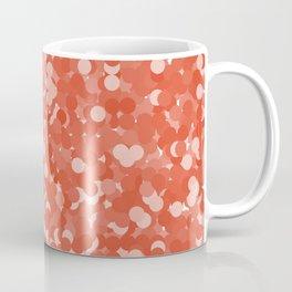 Tangerine Tango Polka Dot Bubbles Coffee Mug