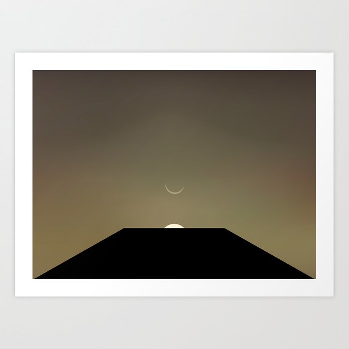 2001 Space Odyssey Minimal Dawn of Man Monolith Alignment Kunstdrucke