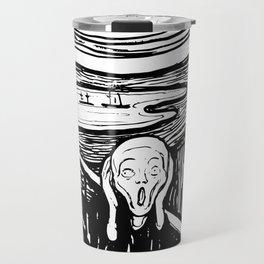 Edvard Munch The Scream 1895 Lithograph Reproduction Artwork for Prints Posters Tshirts Men Women Ki Travel Mug