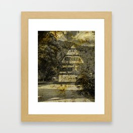 Old half-timbered House ( Klosterhof Blaubeueren ) Framed Art Print