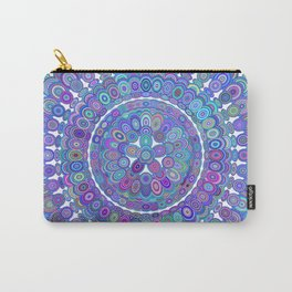 Colorful Happy Floral Mandala Carry-All Pouch