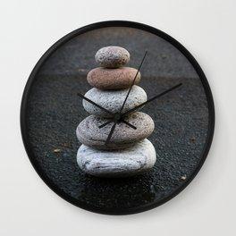 Stone Cairn - Zen Balance - Meditation Wall Clock