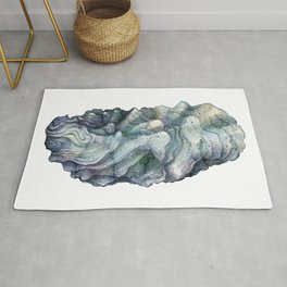 Shell watercolor illustration 1 Rug