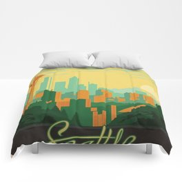 Vintage poster - Seattle Comforters