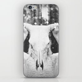 Bull Skull Tribal Woman Vintage iPhone Skin