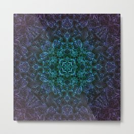 Lavender Diamond Mandala Metal Print
