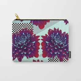 Purple Painted Flowers Carry-All Pouch