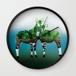 Mythical Beast: The Okapi Wall Clock