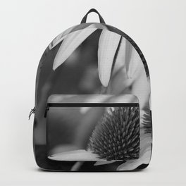 Cone Flower Echoes In Black & White Backpack