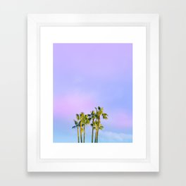 Summer Dreams with Palms Framed Art Print